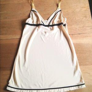 Kimchi Blue Nude & Black Slip Mini Dress